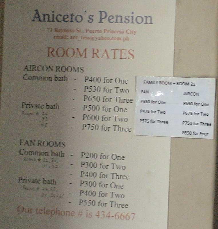 Dallas Inn Puerto Princesa Room Rates