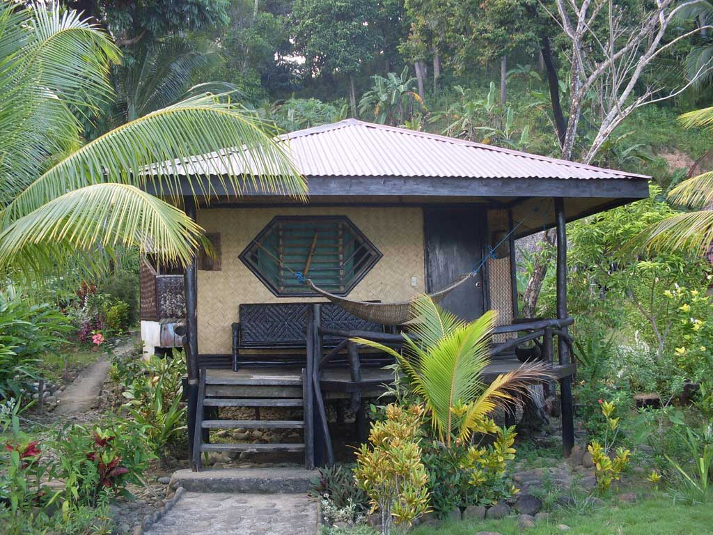 Blue Bamboo - front cottage